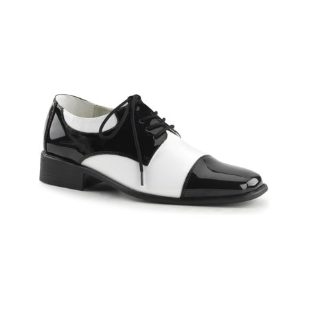 men's saddle shoes vintage costume shoes black white oxfords - Black White Saddle Shoes