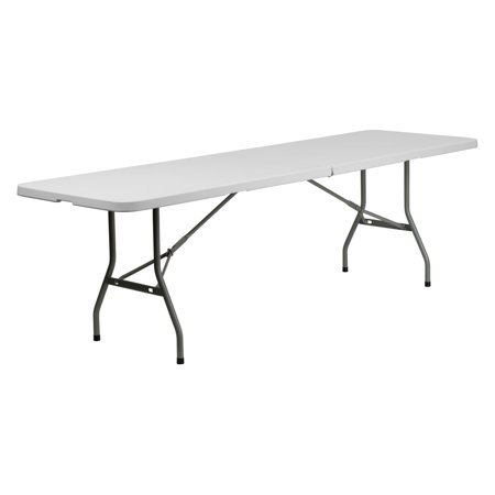 Flash Furniture 30W X 96L Bi Fold Granite White Plastic Folding Table