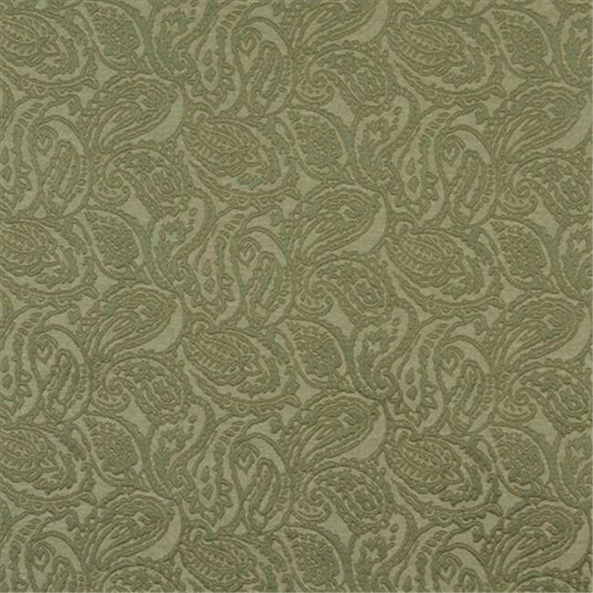 Designer Fabrics E576 54 in. Wide Green, Paisley Jacquard Woven Upholstery Grade Fabric
