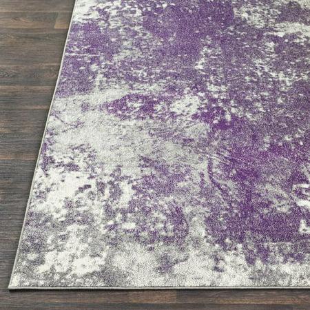 Williston Forge Candelaria Abstract Medium Gray Dark Purple Area Rug