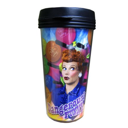 I Love Lucy 16 oz Travel Plastic Coffee Mug, New Desi TV Series Collectable