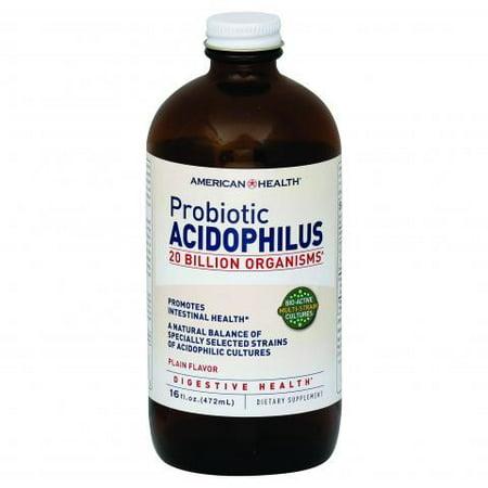 American Health Probiotic Acidophilus Liquid  Plain  16 Fl Oz