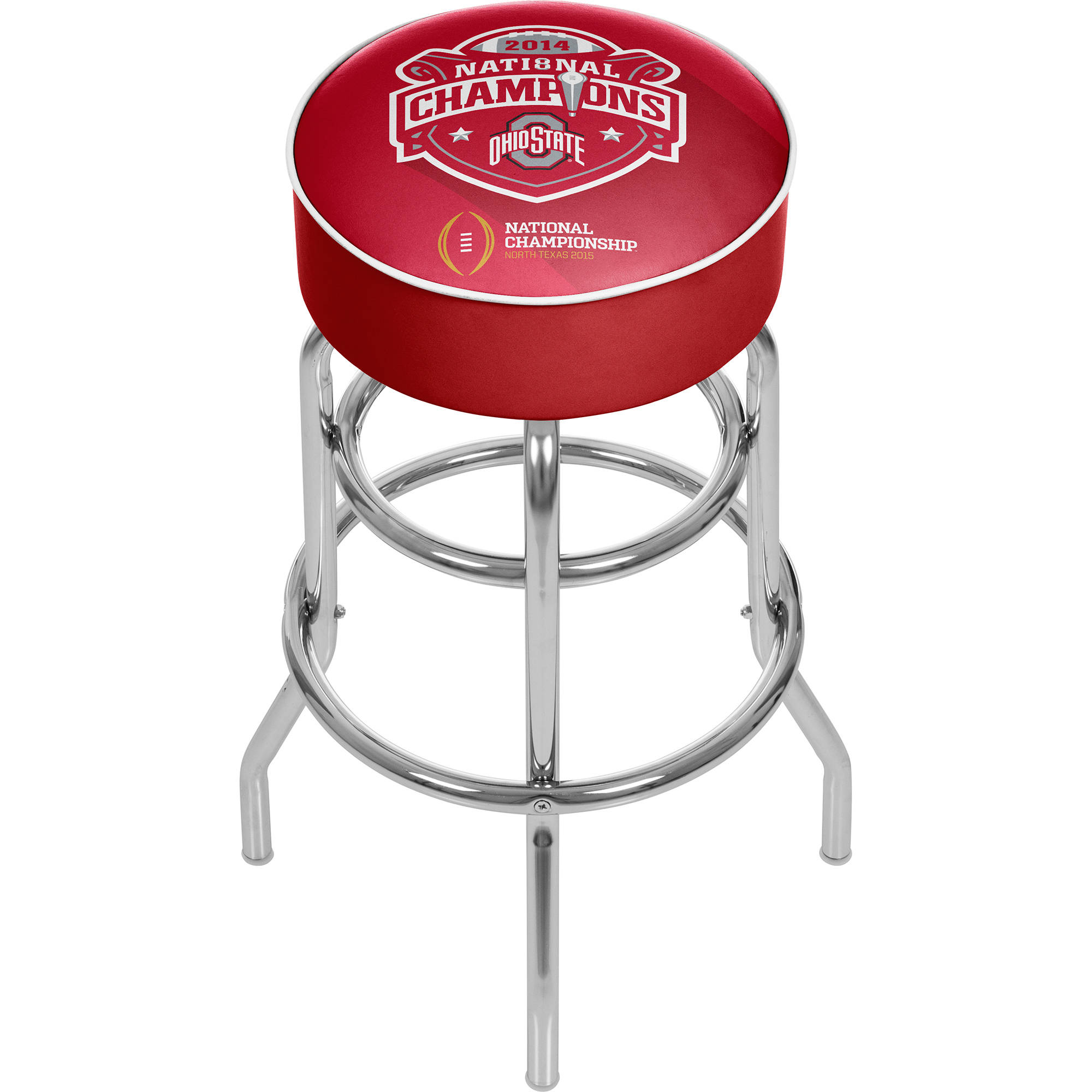 Ohio State National Champions Chrome Bar Stool with Swivel