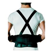 Sportaid Back Belt With Suspenders, Black, 26 Inches-36 Inches, Small - 1 Ea
