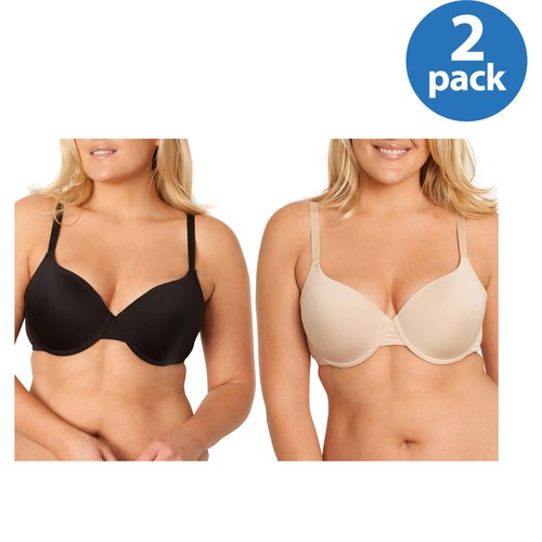 Fruit of the Loom Women's T-Shirt Bra, Style FT487, 2-Pack