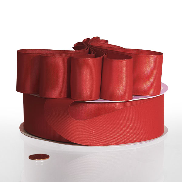 "Red Grosgrain Ribbon    Width: 7/8"" by Paper Mart"