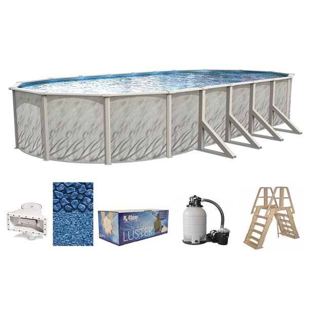 Meadows Oval Above Ground Swimming Pools Full Start Up Kit Choose Size Walmart Com Walmart Com