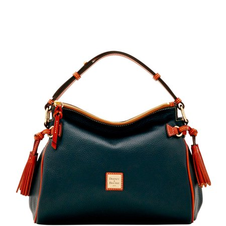 Dooney & Bourke Pebble Grain Medium Zip Hobo Bag Shoulder Bag Dooney & Bourke Denim