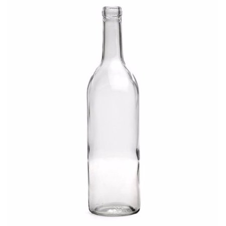 750 Ml Clear Wine Bottles, Cork Finish](Mini Wine Bottle)