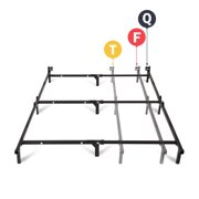 mainstays 7 adjustable metal bed frame easy no tools assembly twin - Metal Bed Frames Twin