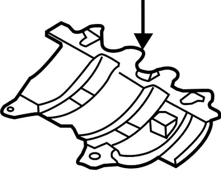 Passat Beetle Golf Cc Engine Oil Pan Baffle Plate 04l 103 623 F