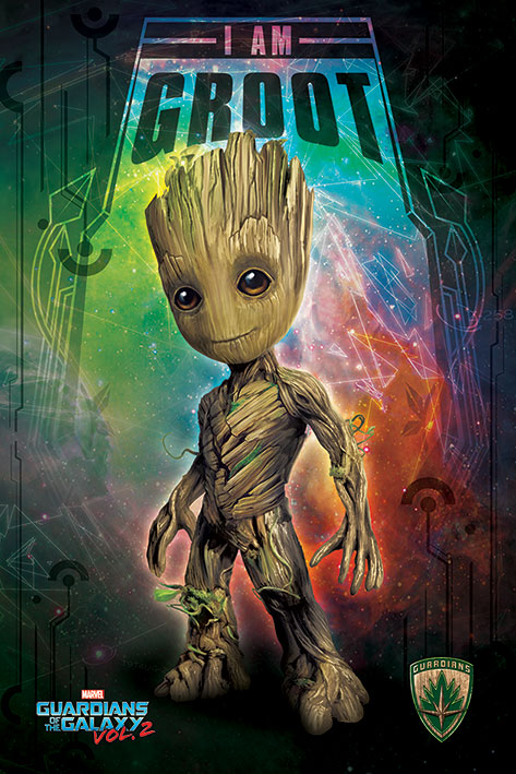 "Guardians Of The Galaxy Vol. 2 Movie Poster   Print (Baby Groot) (Size: 24"" x 36"") by"
