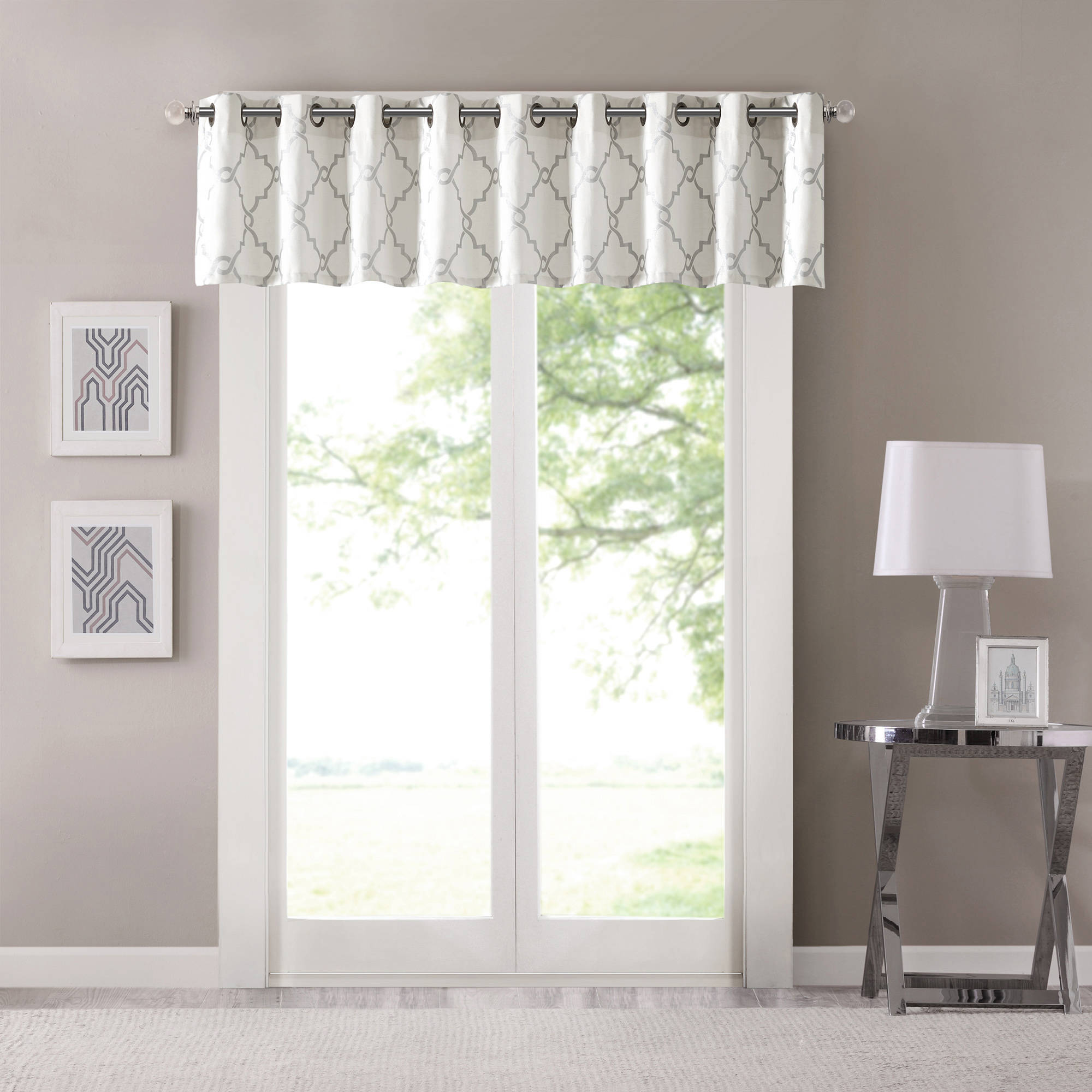 Home Essence Sereno Fretwork Print Valance