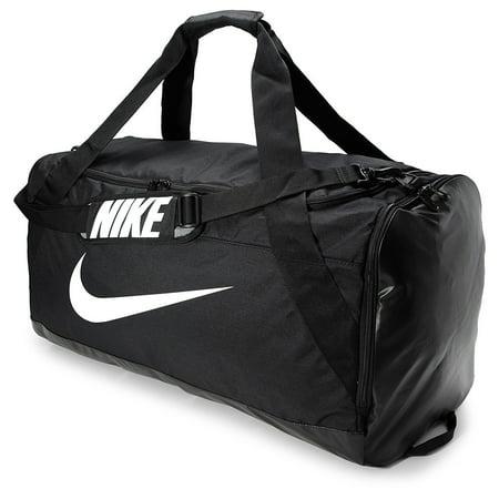 Nike NKBA5352 010 XL Brasilia Extra Large Duffel Bag Black Black White Duffel  Bags 607482e43d
