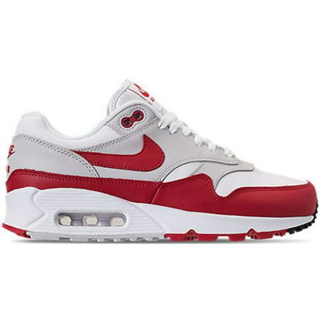 5f14141e0f Nike - Womens Nike Air Max 90/1 White University Red Neutral Grey ...