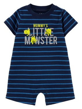 c3a416bd54fd Product Image Child of Mine by Carter's Short Sleeve One Piece Romper (Baby  Boys)
