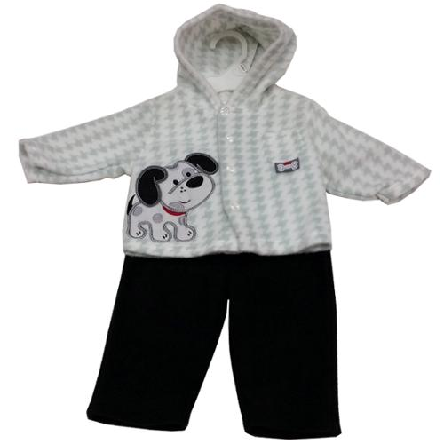 Baby Rebels Baby Boys Black White Checker Poppy Applique 2 Pc Pant Set 3-6M