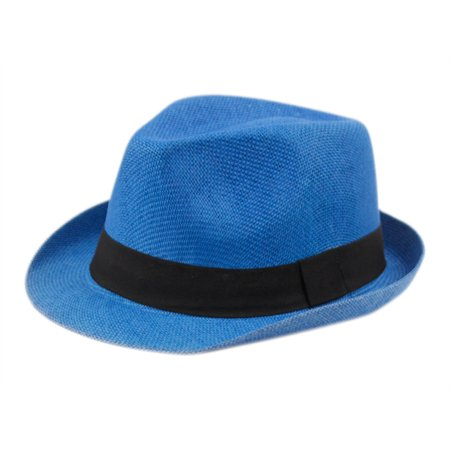624957caa Fedora Hat Short Brim Cuban Trilby Summer Beach Sun Gangster Paper Straw  Men or Women