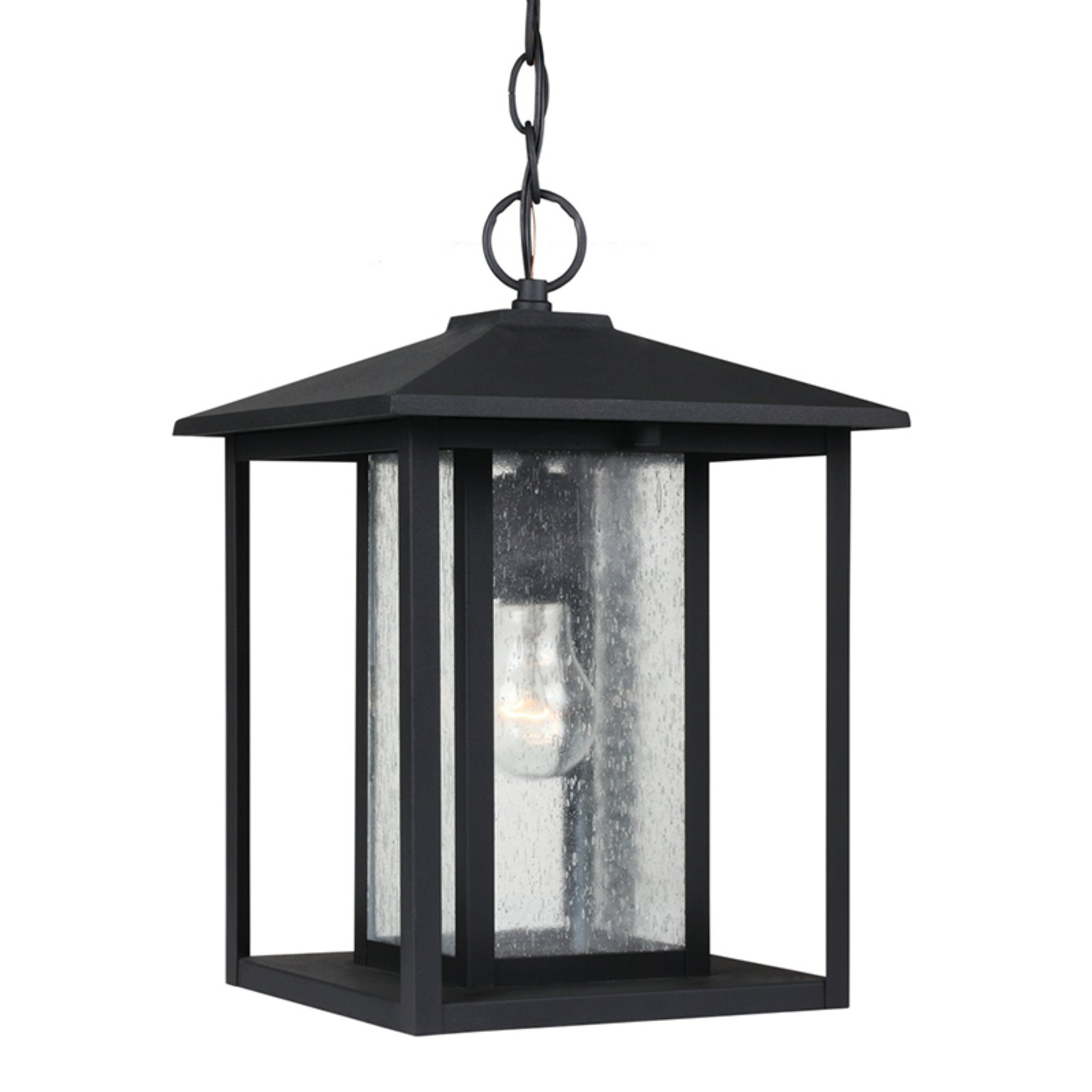 Sea Gull Lighting Hunnington 1-Light Outdoor Pendant - 13.75H in. Black