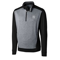 e3e10bebc Product Image New York Yankees Cutter & Buck Replay Big & Tall Half-Zip  Jacket - Gray