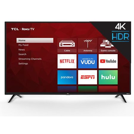 TCL 65u0022 4K HDR 120Hz CMI Roku Smart LED TV - Black (65S405)