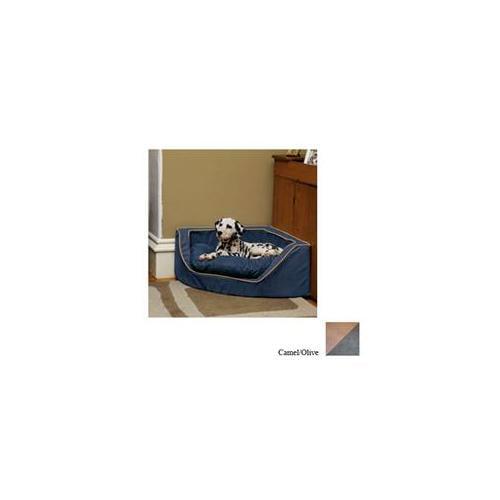 Snoozer Luxury Corner Pet Bed - Large/Camel/Olive