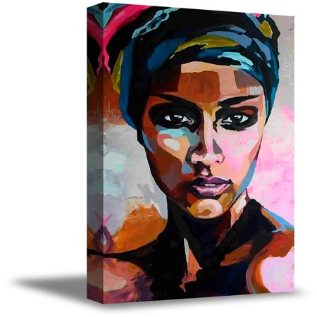 Awkward Styles African Woman Canvas Painting African Lady Portrait African Canvas Art Colorful Artwork for Bedroom African Fine Art Print African Woman Framed Artwork Gifts for Her Stylish Decor Ideas