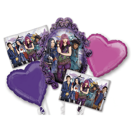 Disney Descendants 2 Happy Birthday Party Favor 5x Foil Balloons