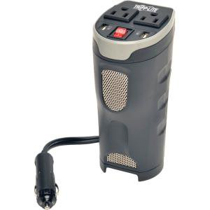 """Tripp Lite Car Inverter Cup Holder 200W 12V DC to 120V AC 2 USB Charging Ports 2 Outlets - Input Voltage: 12 V DC - Output Voltage: 120 V AC, 5 V DC - Continuous Power: 200 W"""" CUP HOLDER 2 OU"""