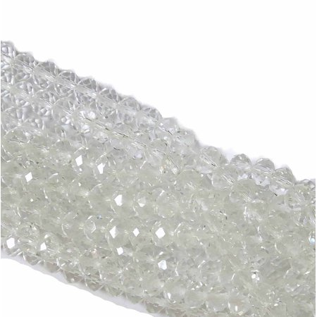 Crystal Clear Faceted 8mm Rondelle, Loose Beads, 70 Piece Luster Glass Crystal, Loose Beads,
