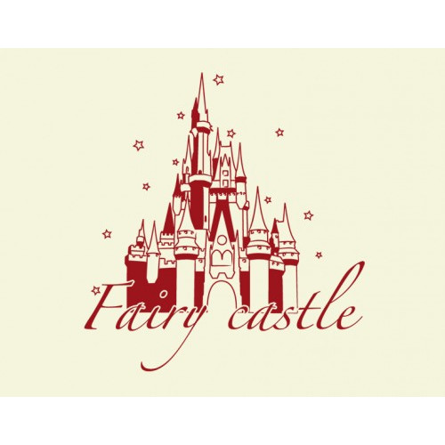 Style and Apply Fairy Castle Wall Decal