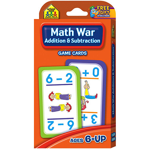 Game Cards Math War: Addition and Subtraction