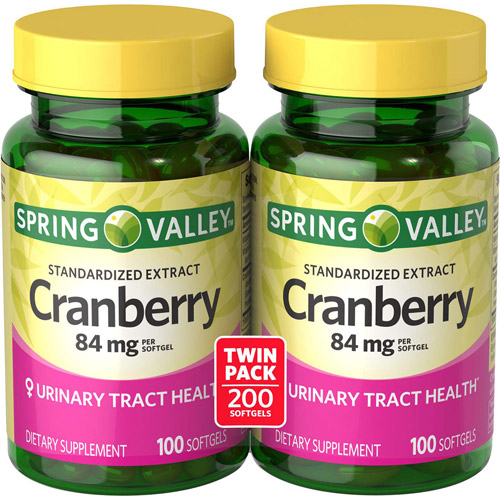 Spring Valley Cranberry Extract Softgels, 84 mg, 100 Ct