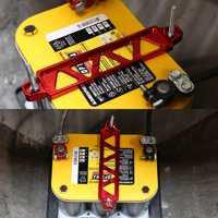 190mm/220mm Billet Aluminum Battery Tie Down Mount Bracket (SIlver)