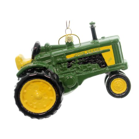 Holiday Ornaments JOHN DEERE TRACTOR Glass Licensed Product (Jd Tractor Ornament)