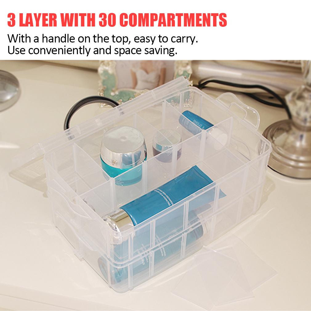 Practical Plastic Storage Box Container Case 30 Organizer Nail