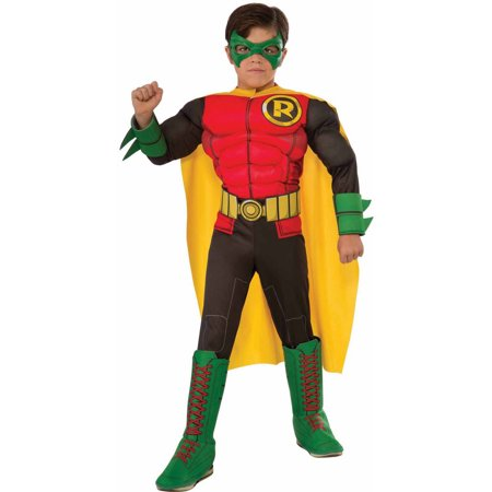 Deluxe Robin Child Halloween Costume - Batman And Robin Halloween Costumes For Adults