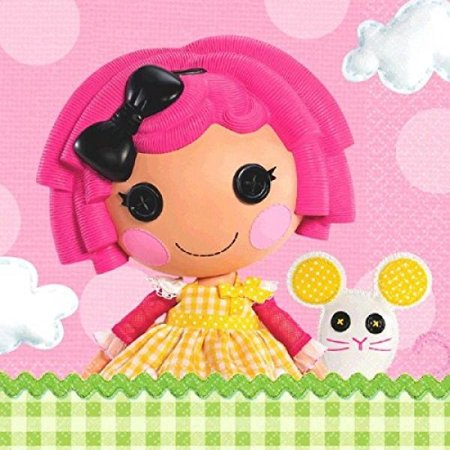 Adorable Lalaloopsy Luncheon Napkins Birthday Party Tableware (16 Pack), Multi Color, 6.5