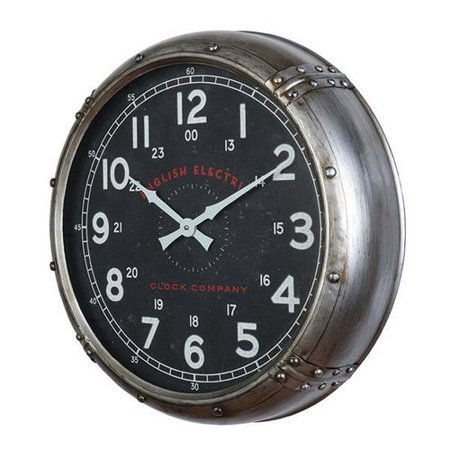 Breakwater Bay 20\'\' Round Riveted Frame Wall Clock - Walmart.com