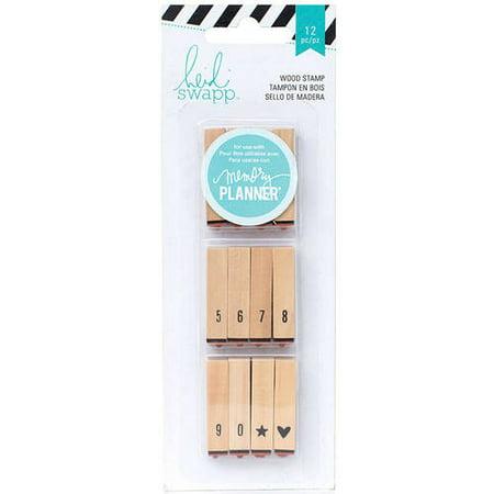 Heidi Swapp Hello Beautiful Wood-Mounted Stamps, Calendar - Sanrio Hello Kitty Stamp
