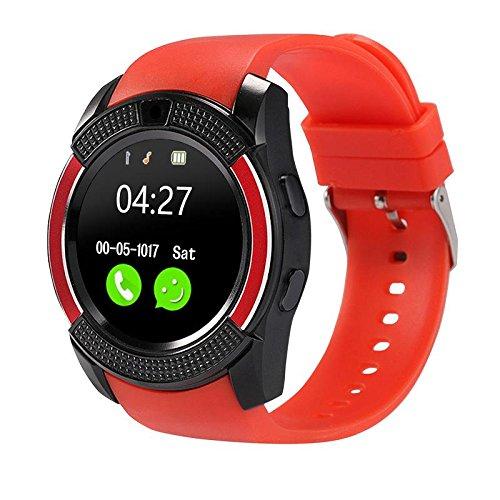 Sanoxy Smart-Phone-Watch with Camera, Touchscreen Smart Wrist Watch with Sim Card Slot, Camera Controller Bluetooth Watch Unlocked Waterproof Smart SIM-Watch Phone function (Black