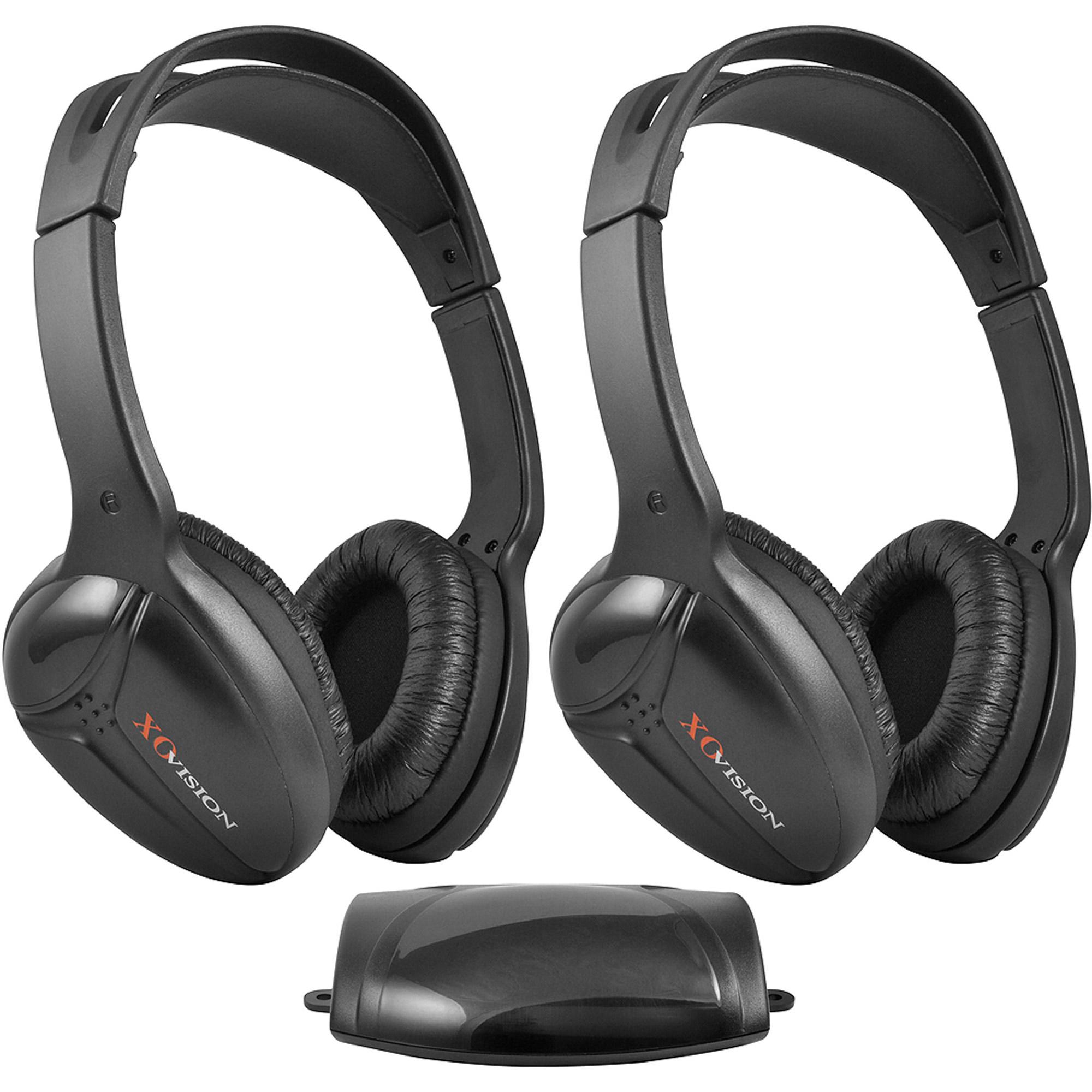 XO Vision IR-473 Infrared Wireless Headphones Dual Set