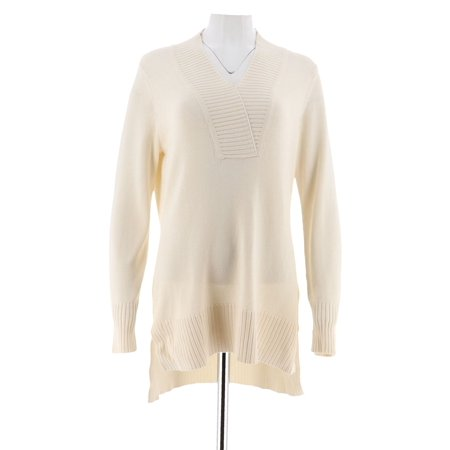Isaac Mizrahi Crossover V-neck Sweater Tunic A284088 Michael Stars Jersey Tunic