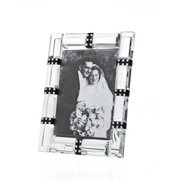 4x6 Cherish Black & Clear Crystal Photo Picture Frame