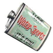 NEONBLOND Flask I Love Water Sports, Vintage design