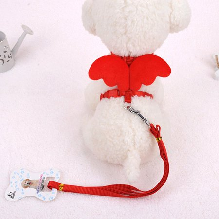 Cute Angel Wing Pet Dog Leashes Collars Adjustable Dog Harness Pet Supplies - image 2 of 4