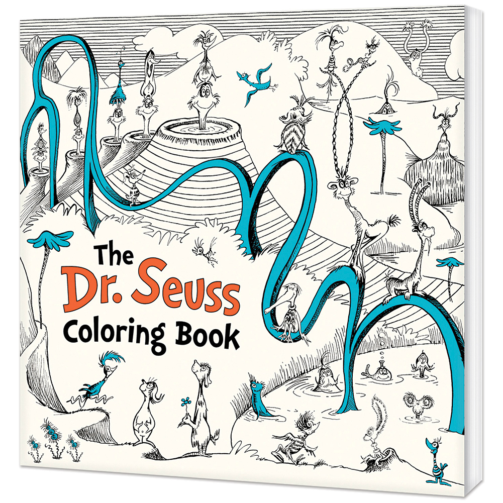 Dr Seuss Coloring Book - The Lorax, Yertle Turtle, Horton & Cat In The Hat  + - Walmart.com - Walmart.com