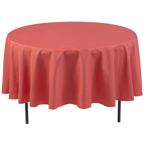 Polyester Round Tablecloth, Coral