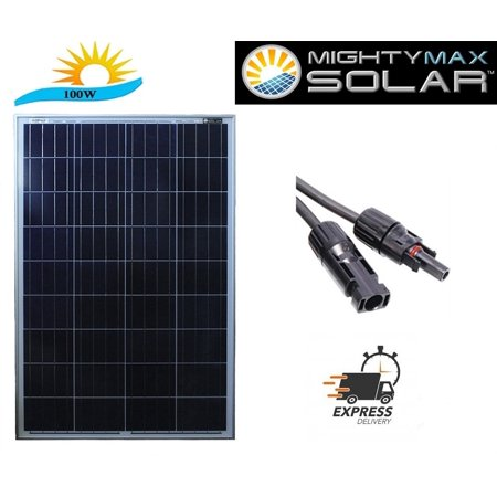 100 Watt 12V Solar Panel Battery Charger RV Boat Camping Off