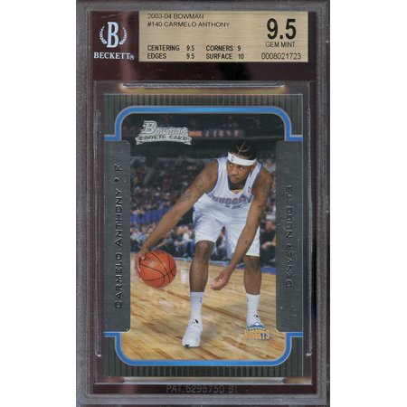 2003 04 Bowman  140 Carmelo Anthony Denver Nuggets Rookie Bgs 9 5  9 5 9 9 5 10